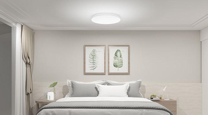 nEO_IMG_「米家吸頂燈 350」配備日光及月光兩種照明模式,並提供三種自定義模式,可根據用戶最舒適的光線,設定起床模式、電影模式或工作模式,一鍵到位滿足用戶的照明需求。.jpg