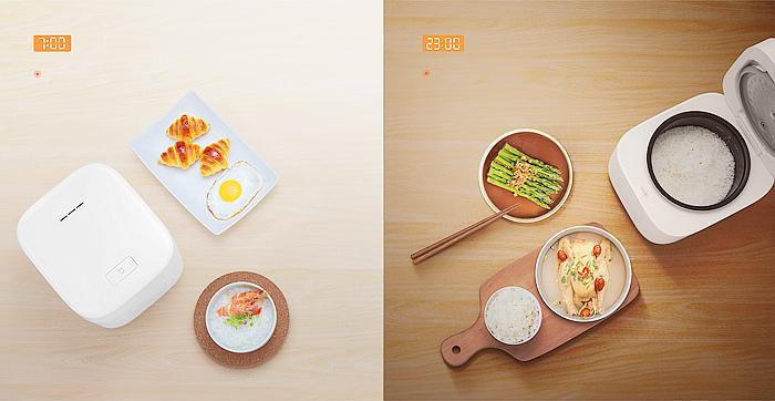 nEO_IMG_因應單身族、小家庭的居家烹飪需求,小米推出米家電子鍋mini,提供更易於掌握的1.6L 容量供選擇,可一次烹煮約6碗的米飯,不易浪費或過量.jpg