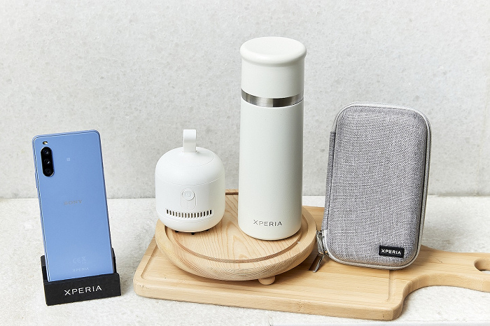 nEO_IMG_圖說、Sony Mobile貼心規劃Xperia 10 III早鳥禮「風格選物大禮包」(3C硬殼收納包、簡約桌上型吸塵器、真空不鏽鋼保溫杯),數量有限送完為止.jpg