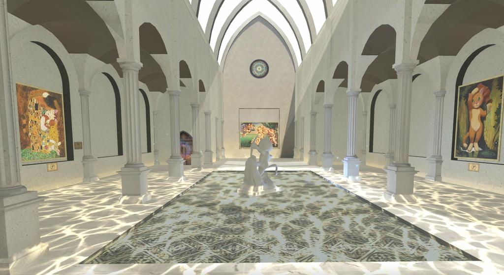 圖4.第三大展區「貓體之美」以對稱、規律及等比的空間設計原則,重現文藝復興建築。.jpg