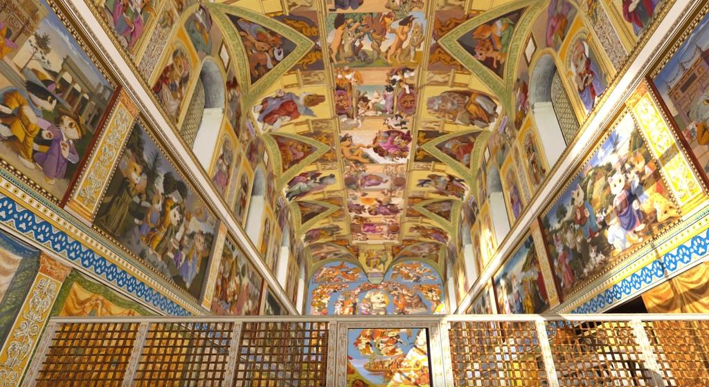圖2.第一大展區-「貓斯汀大教堂」擬真教堂立體空間展出124幅畫作.jpg