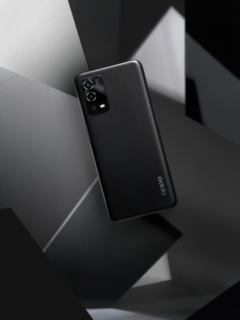 OPPO A55「星鑽黑」,採用磨砂工藝呈現不沾染指紋的霧面質感,手感更細膩絲滑.jpg