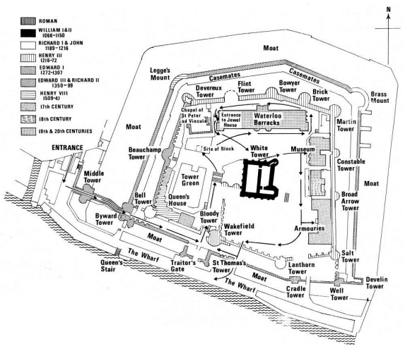 Map of The Tower of London 1972