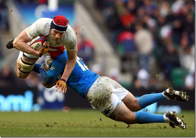 APTOPIX BRITAIN ENGLAND ITALY RUGBY SIX NATIONS