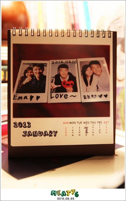 2012,08,23【手作系列 桌曆】菌菌跟賢賢的2012跨2013情侶紀念桌曆 ♥11