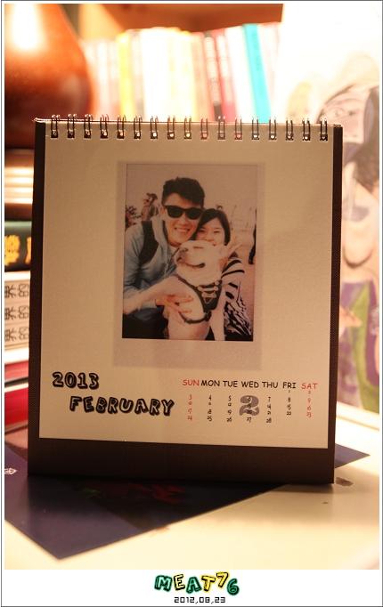 2012,08,23【手作系列 桌曆】菌菌跟賢賢的2012跨2013情侶紀念桌曆 ♥12
