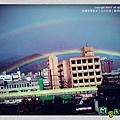 2012,12,26|大台北難得的霓虹景色,久違彩虹