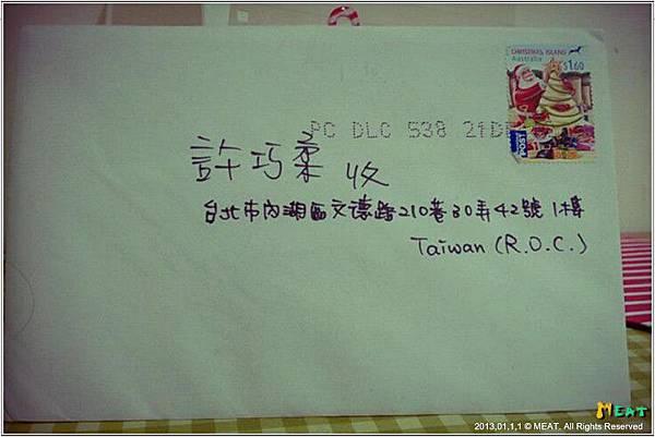 2013,01,15,2【聖誕節卡片】等了快半年的卡片,終於從澳洲熊兒寄來了!!!|from胖熊筱涵002