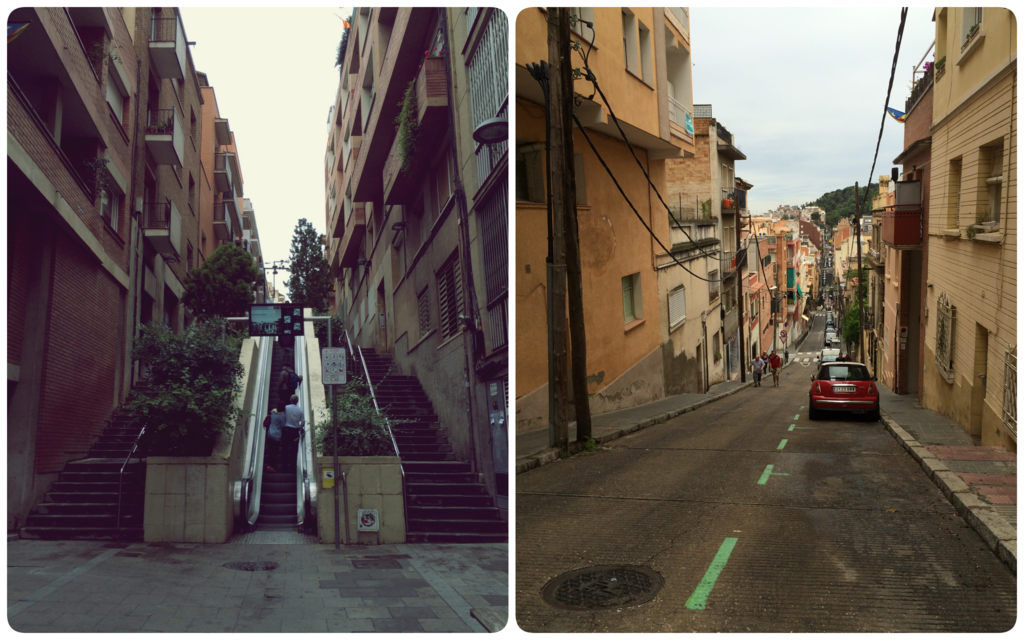 Road to Parc Guell