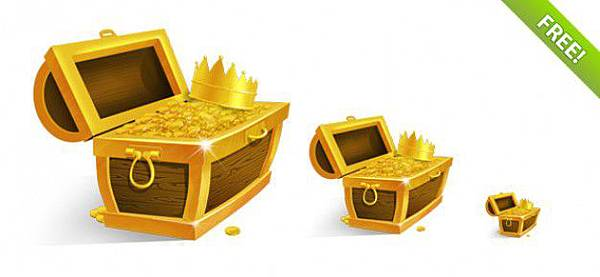 treasure-chest-with-golden-coins-and-crown_31-1981