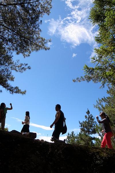 無意間拍下很有登山fu的照片