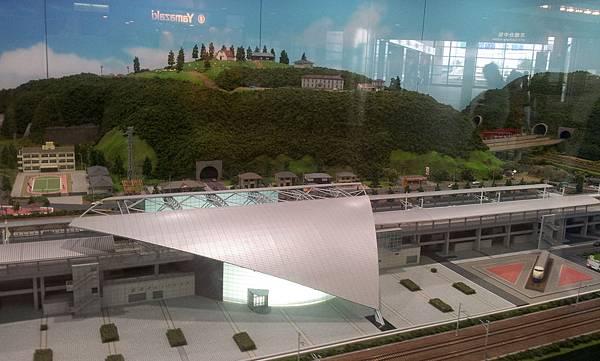 高鐵台中站模型