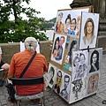 查理士橋(4)-還有很多幫人家畫畫的街頭藝人