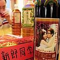 客製相片貼紅酒