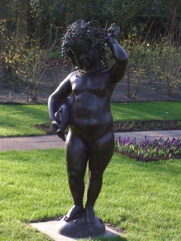 庫肯霍夫花園-可愛的雕像