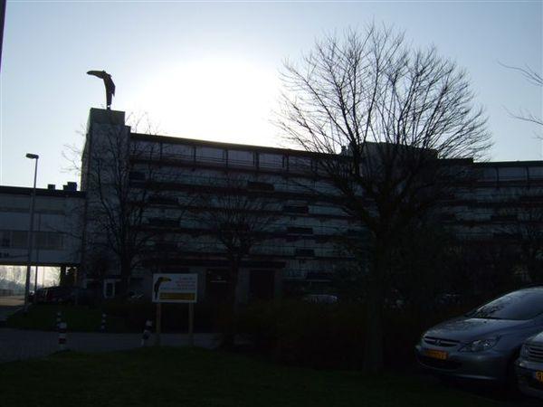 阿姆斯特丹-的飯店 天色有點晚了