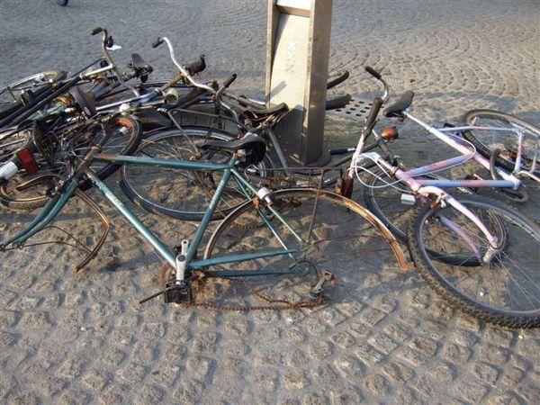 阿姆斯特丹--被偷了輪胎的單車
