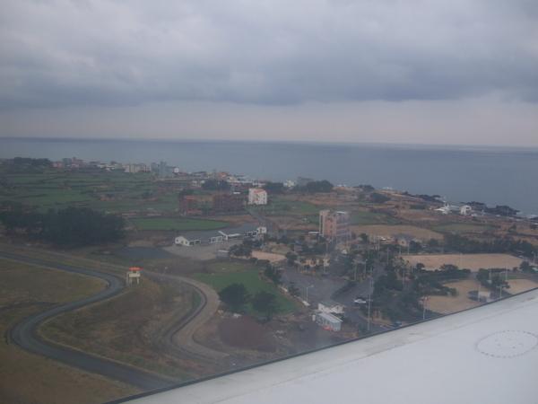 濟州島的上空