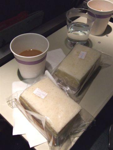 東方航空的難吃的三明治