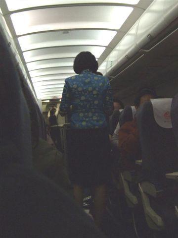 東方航空的美女空姐~~~的背影啦