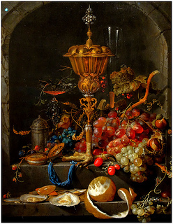Jan Davidsz. de Heem《水果靜物有蓋的高腳杯》