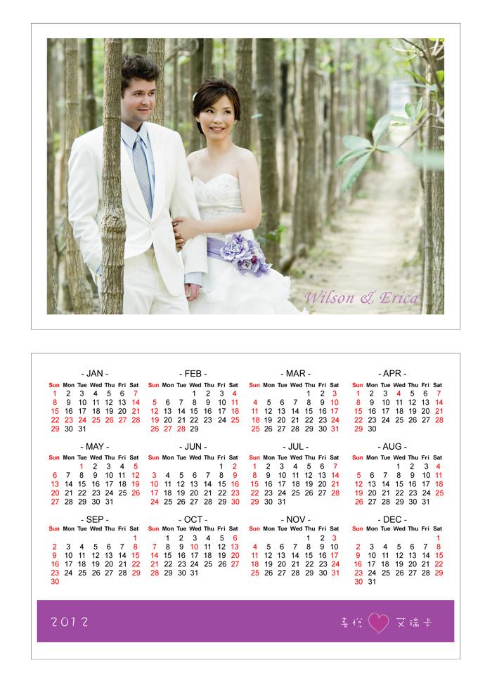 年曆謝卡雙面155x110mm