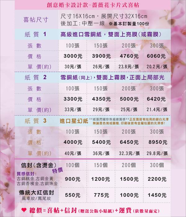 創意婚卡設計-薔薇花卡片式喜帖價格.jpg