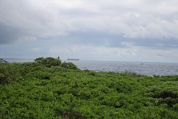 IMG_0921遠方的船,連想到遊歷者號還是八寶公主呢.JPG