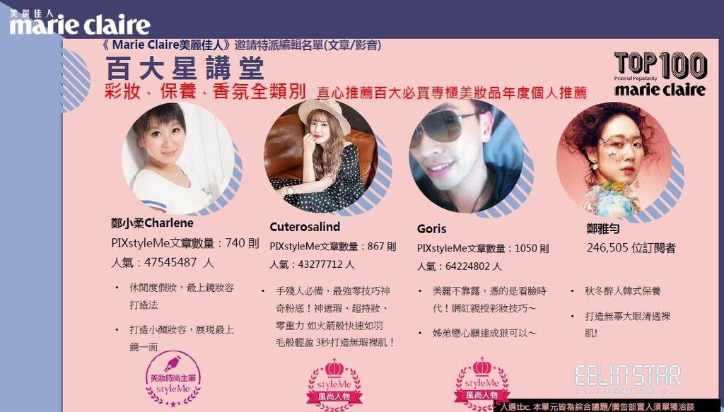 《 Marie Claire美麗佳人》國際中文版雜誌-年度百大賞活動-1.JPG