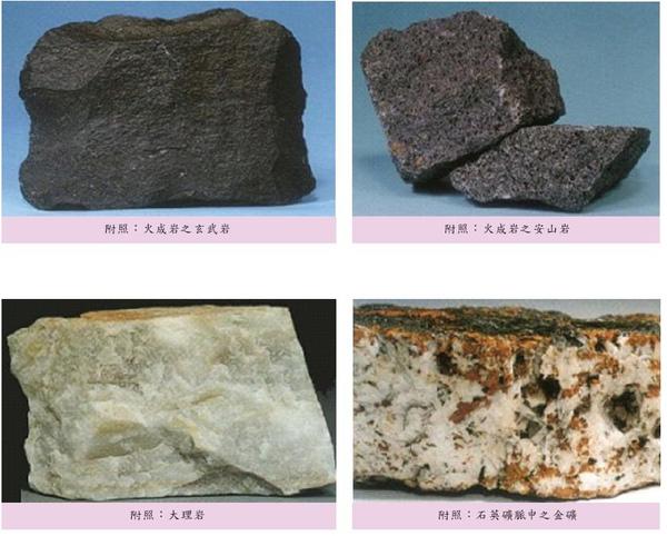 水里鄉岩石種類