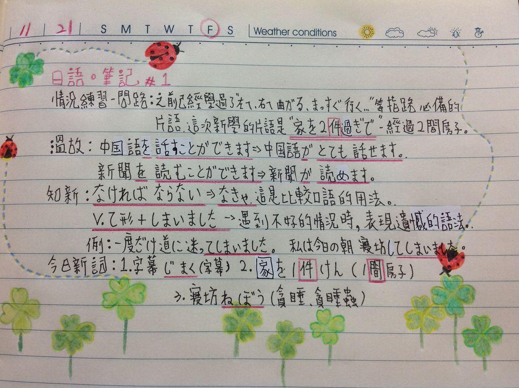 日語筆記#1