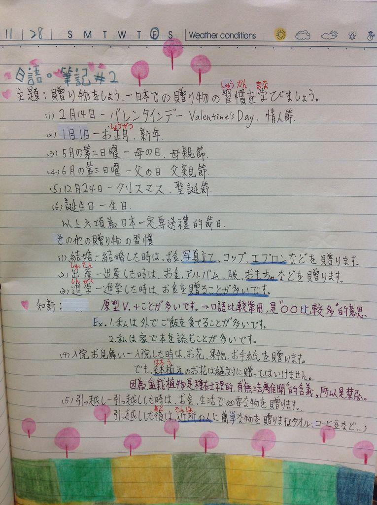 日語筆記 #2-1