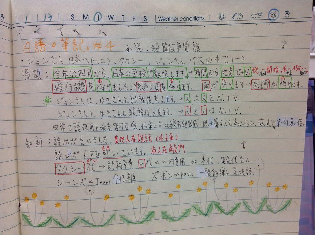 日語筆記 #4