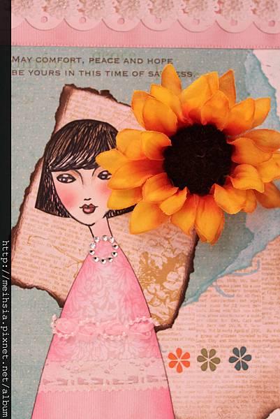 Handmade Card - Drawing & Sunflower