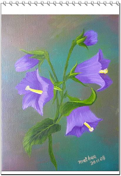 (3)Bob Ross精緻花卉油畫--風鈴草2-1.jpg