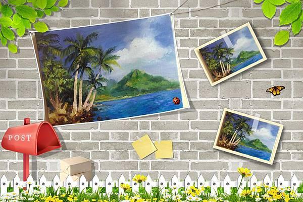 (23)油畫--熱帶島嶼風情2-2