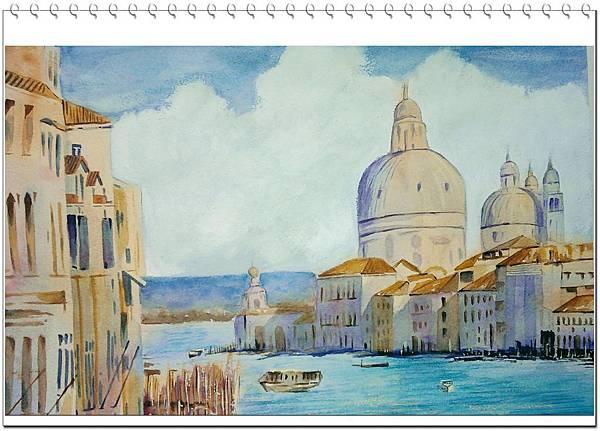 (25)水彩--威尼斯2-2