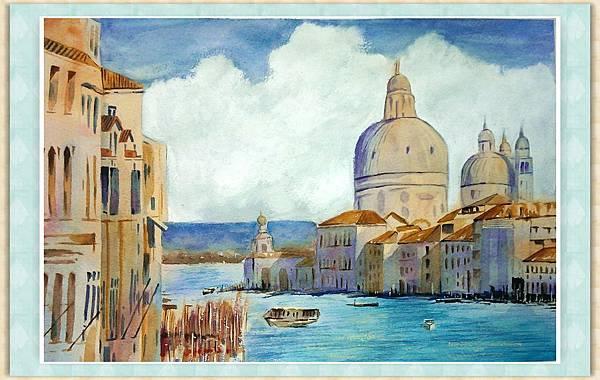 水彩--威尼斯