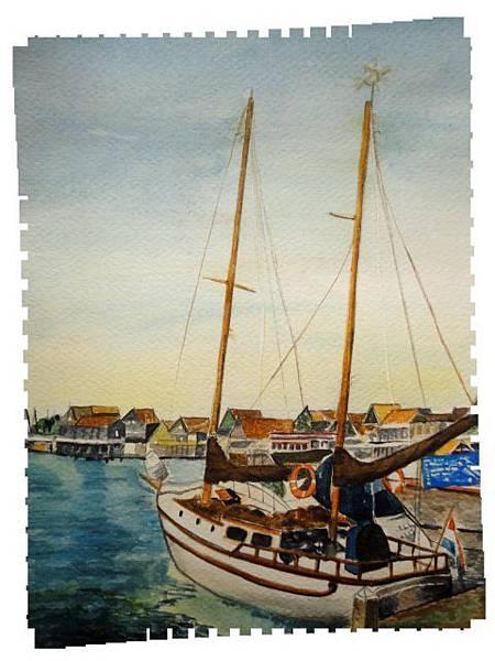 (29)水彩--帆船2-2