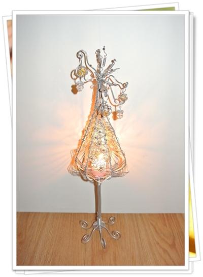 鋁線創作-聖誕樹煙火燭台05