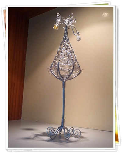 鋁線創作-聖誕樹煙火燭台04