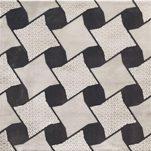 美利德磁磚_維歐納花磚-01黑白幾合_5 20X20
