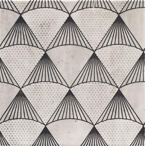 美利德磁磚_維歐納花磚-01黑白幾合_1 20X20