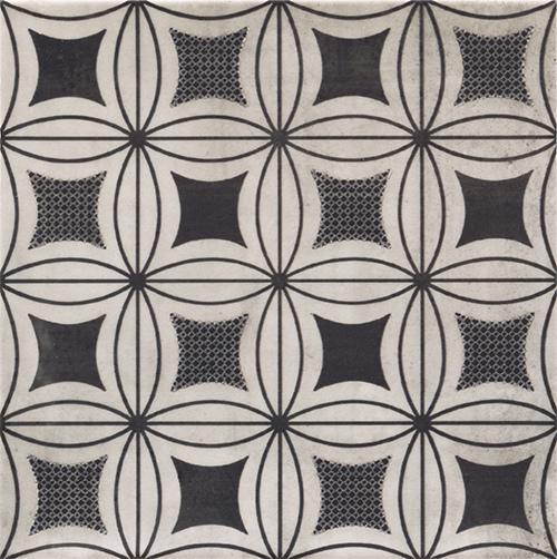 美利德磁磚_維歐納花磚-01黑白幾合_2 20X20