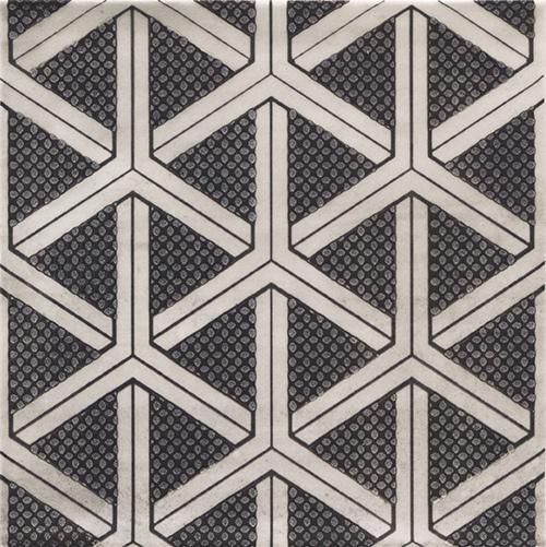 美利德磁磚_維歐納花磚-01黑白幾合_6 20X20