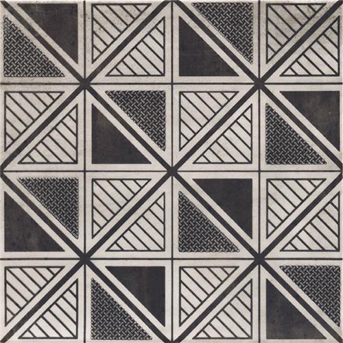 美利德磁磚_維歐納花磚-01黑白幾合_8 20X20