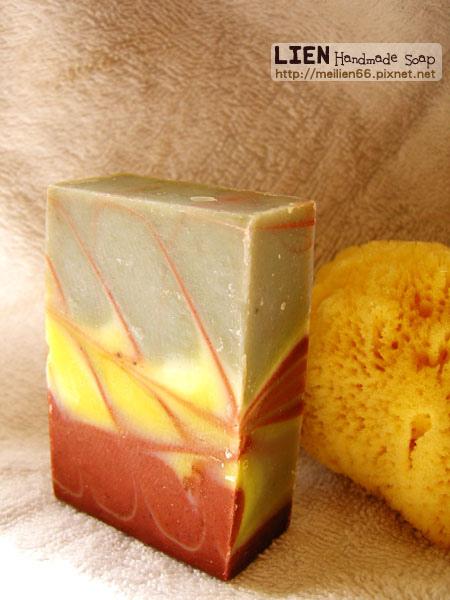 三色精油拉花皂