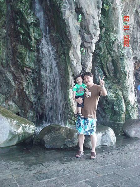 海生館內的瀑布