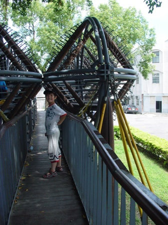 打擾到小情侶但又堅持要爬樹橋