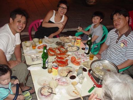 台南廟邊海產慶祝老爸生日